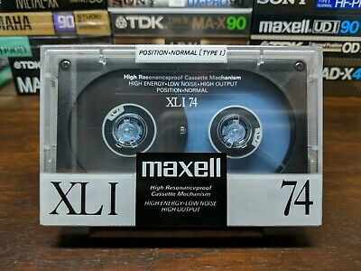 Maxell XLI 74 Blank Compact cassette tape Type I