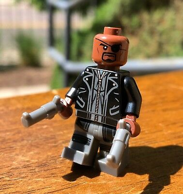 Genuine Lego Marvel Super Hero Nick Fury Rare Minifigure Only From Set# 76042 Sp