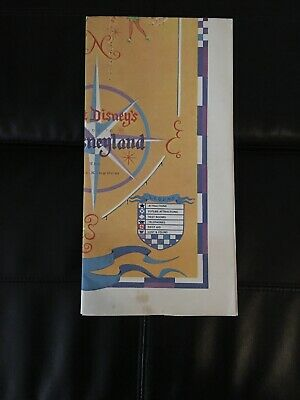 Vintage 1968 Walt Disney Disneyland Park Map Poster / Please See My Description