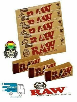 RAW RIZLA CLASSIC King Size Slim 110mm Rolling papers Authentic & Roach Tips