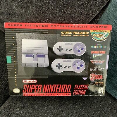 Super Nintendo Classic Mini Modded New! 140 Games! Snes