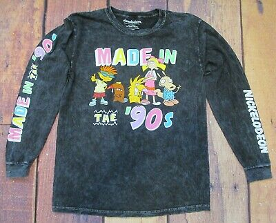 """New Nickelodeon Made in the 90's Classic Retro Rocko Helga Otto T-Shirt """"Y"""""""
