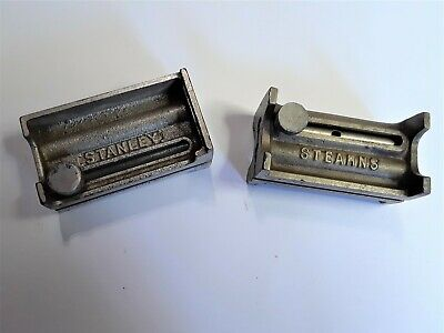 TWO Vintage Hinge Mortise (Butt) Gauges - STANLEY No. 95 (parts) STEARNS No. 85