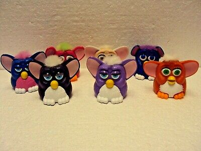 1998 FURBY Fast Food Toys Loose McDonald's Lot of 7