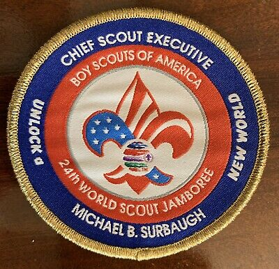 2019 24th World Scout Jamboree  Badge Patch Key Three Surbaugh