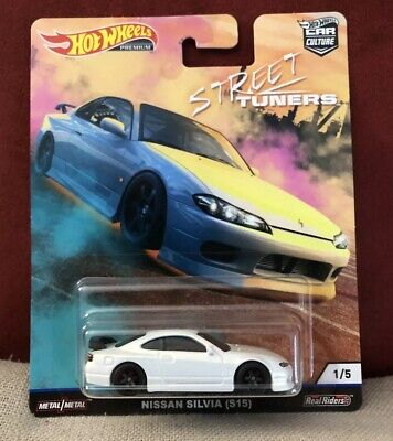2019 Hot Wheels Car Culture Nissan 240SX Silvia S15 - White - Street Tuners 1/64
