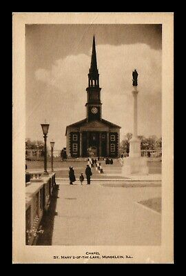 Dr Jim Stamps Us Chapel St Marys Of The Lake Postcard Mundelein Illinois