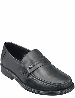 Mens Moccasin Leather Wide Fit Slip On
