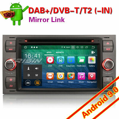 "GPS Autoradio Android 9.0 DAB+Ford Fiesta Focus C S-Max Galaxy PX5 BT DVR 7""7966"