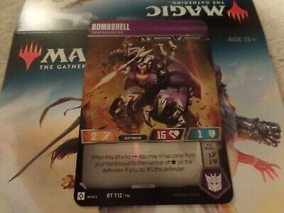 Transformers TCG Rare Bombshell 012 Rise of the Combiners Wave 2 Psy Ops T12