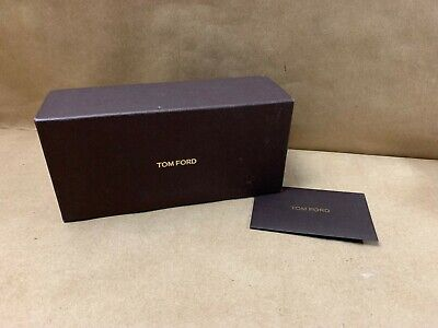 Tom Ford Optical Sunglasses Brown Box Empty Box Only No Glasses w/ Envelope