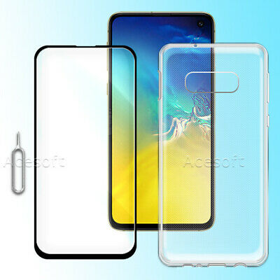 Tempered Glass Screen Protector+ TPU Case for Samsung Galaxy S10e G970U Unlocked