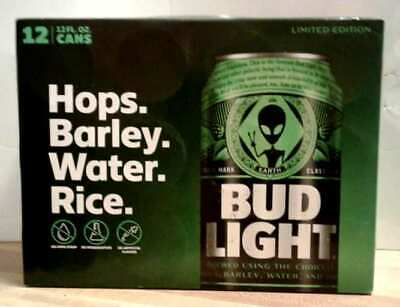 Bud Light Alien Area 51 12 Pack Beer Carton - Empty Box No Cans Limited Edition