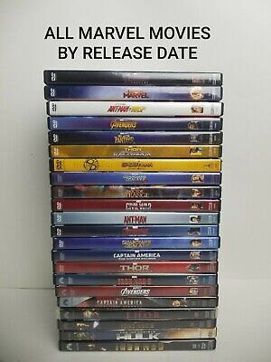 All Marvel DVD Lot Movie Avengers Collection Catch up Complete Phase 1 2 & 3