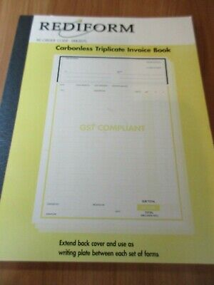 Rediform Carbonless Triplicate Invoice  Book shelf stock clearance line A4 size