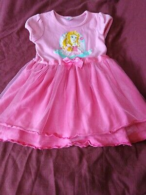 Toddler Girls Pink Aurora Themed Party Dress by Disney Baby Age: 12-18 months