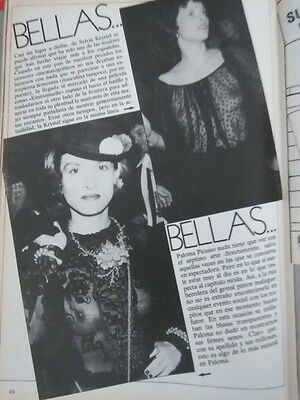 Clipping Paloma Picasso Silvia Krystel