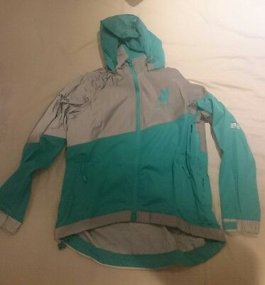 Deliveroo cycling jacket Waterproof Reflective delivery LARGE FASTP&P ANORAK