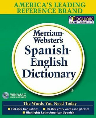 NEW - Merriam-Webster's Spanish-English Dictionary: Bilingual on CD-ROM