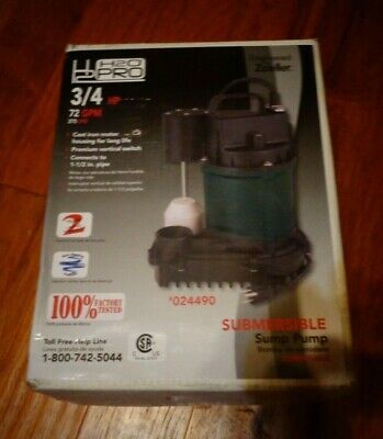 Submersible Sump Pump 3/4 HP 72 GPM Basement Fish Pond Farm Plumbing Brand New