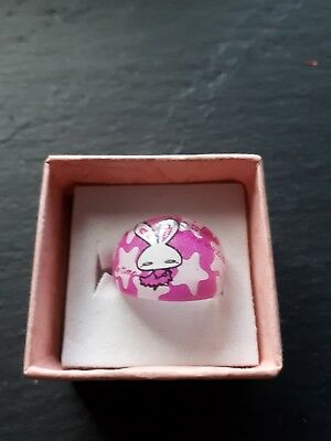 Brand new childs cartoon bunny ring size I! Childrens kids costume jewellery!
