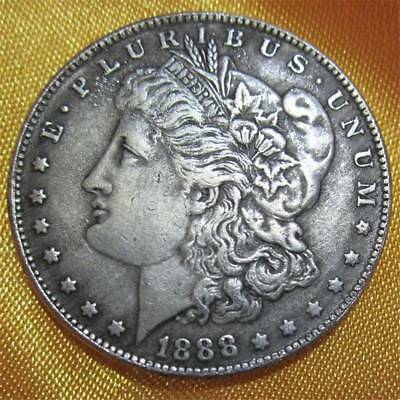 39mm 1888 Silver Coin American Morgan Dollar Commemorative Coin Collection Gift