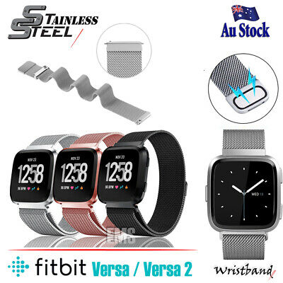 Stainless Steel Metal Band For Fitbit Versa /2 /Lite Milanese Wrist Watch Strap