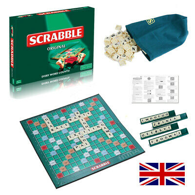 Scrabble Board Game Word Puzzle Family Letter Classic Adults Party Play Gift Uk