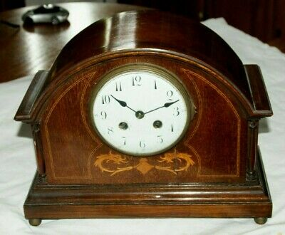 Antique 1850/60's  VINCENTI (Paris) Inlaid Mahogany Cased Mantel Clock
