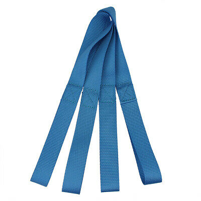11in Blue Nylon Tie Down Strap Soft Loop 4-Pack for Towing Cargo ATV Motorcycles