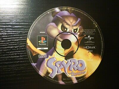 Spyro: The Dragon (Sony PlayStation 1 PS1, 1998) - *Disc Only*