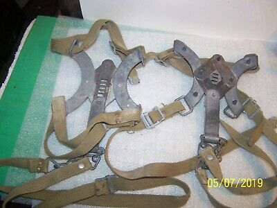 Vintage Us Army Metal Strap on  Ice & Snow Cleats - U.S. M.B. Co - WWII