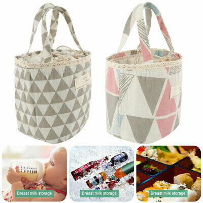 Insulated Lunch Bag Box Thermos Cooler Hot Cold Adult Tote Food For Women Men
