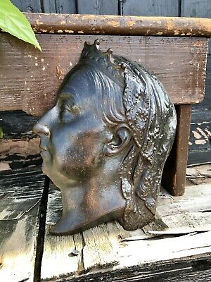 Cast Iron Plaque Of Queen Victoria By Kenrick Diamond Jubilee 1837 - 1897 Sign