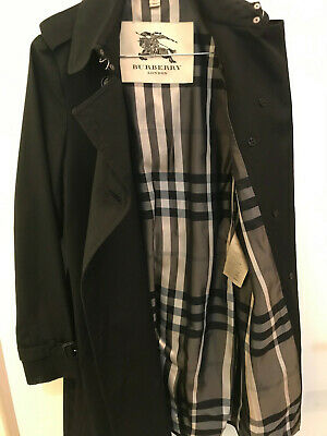 BURBERRY Trenchcoat Damen Gr. 34/36 Mantel schwarz