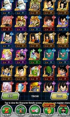 Dokkan Battle Account Farmed Global- 6Lr ( 2 Whit Dupe) And 6 Lc-No Stone