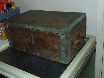antique stage coach strong box