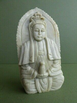 SUPERB Orig Early/mid 20thC VINTAGE Chinese SOAPSTONE Sculpture/Statue GUANYIN