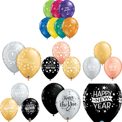 "Happy New Year Party Celebration 11"" Biodegradable Latex Balloon Various Colours"