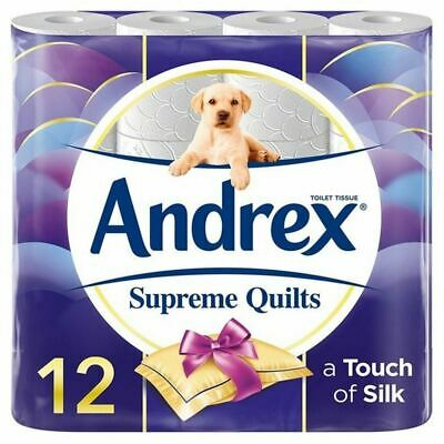 Andrex Supreme Quilts Toilet Roll 12 per pack