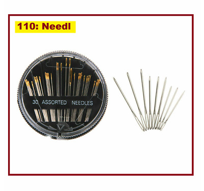 30Pcs/Box Assorted Hand Sewing Needles Embroidery Mending Craft Quilt Sew