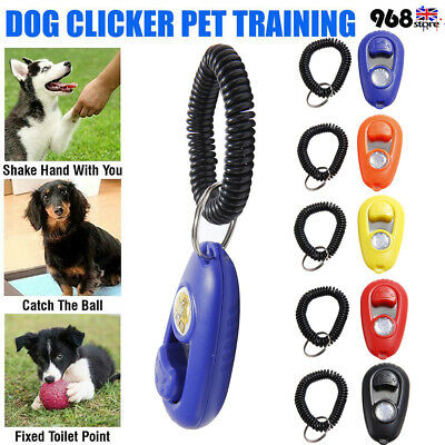 Puppy Behaviour Clicker Pet Dog Whistle Puppy Training Obedience Agility Keyring