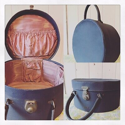 ✿ Vintage Hat Box Or Vanity Case By ANTLER, Cheney Lock Made In England ✿