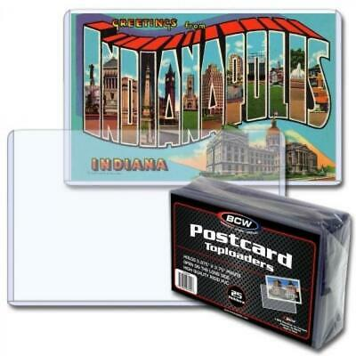 Pack of 25 BCW Topload Holders Postcard Size 5 7/8 x 3 3/4 High Quality PVC