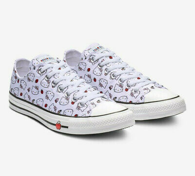 Womens Converse x Hello Kitty CTAS Ox 163916F White/Red/Pink Multiple Sizes NWB