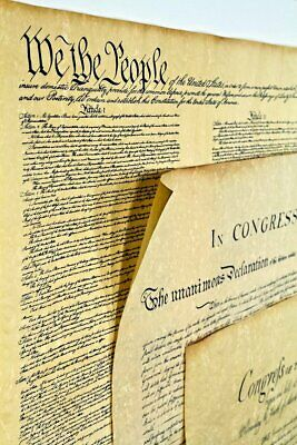 3 Poster Size Bill of Rights,US Constitution, Declaration of Independence 23x29