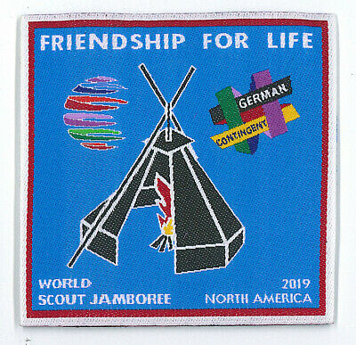 2019 World Scout Jamboree GERMAN FRIENDSHIP FOR LIFE SCOUTS Contingent Patch