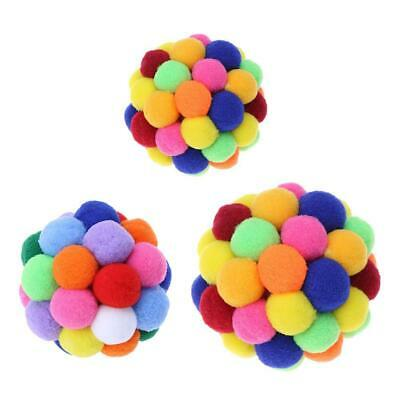 Built-in Catnip Cat Colorful Bell Bouncy Ball Pet Interactive Catch Toys #S5