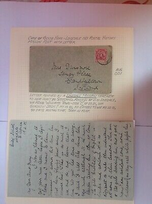 cape of good hope - lovedale 1901 postal history mission post with letter