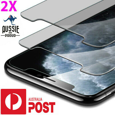 2X iPhone 11 11 Pro XS Max XR X 4 Tempered Glass Screen Protector / plastic sp
